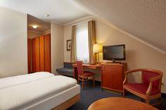 Eines der Superior-Doppelzimmer im H+ Hotel Lampertheim