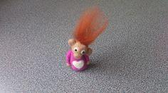 Miniature monkey pixie needle felted fantasy soft by FeltedByRikke