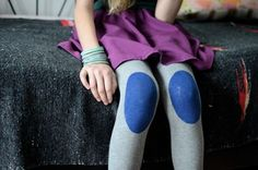 Knee-patch tights. Adorable!