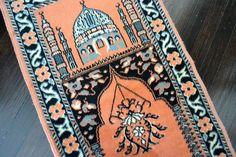 Vintage Prayer Rug - Persian Carpet Design - Table Runner or Wall Hanging. $49.50, via Etsy.