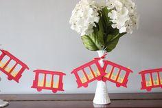 Daniel Tiger Trolley Inspired Paper Garland 6 Feet by shopfluff, $9.00