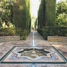 Spain is dazzling and diverse, adopt your desired inner paintings dork at El Prado in Madrid, walk the lively walkway along side Med in Barcelona . Beautiful Castles, Beautiful Gardens, Beautiful Places, Parks, Alcazar Seville, Spanish Garden, Sevilla Spain, Persian Garden, Paradise Garden