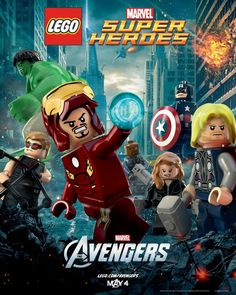 Marvel's The Avengers Poster done with Lego