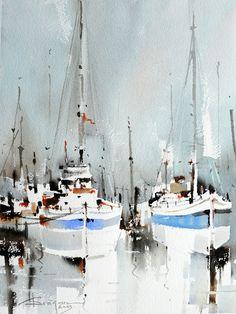 Watercolour-Acuarela-Corneliu-Dragan-Targoviste-peisaj-marin-31