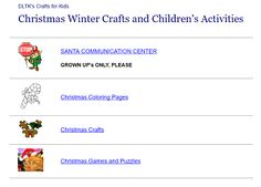 """This is an image from this resource on the Internet4Classrooms' """"Christmas sites to use in the classroom"""" resource page:    Christmas Winter Crafts and Children's Activities.    From DLTK's Christmas crafts and activities for Kids"""