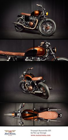 #Triumph Bonneville EFI by Ton-up Garage ~ featured on www.motorivista.com #Custom #motorcycle #Portugal ~