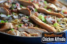 Southwest Chicken Alfredo | Aunt Bee's Recipes