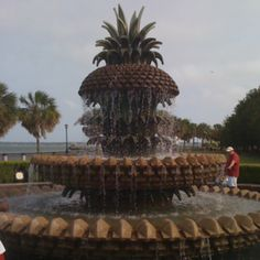 Pineapple Fountain in downtown Charleston, SC