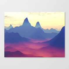Mountains of Another World Canvas Print