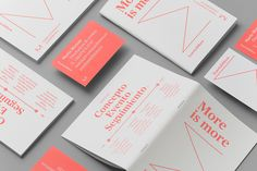 """Events & More Branding byAndrés Requena""""Visual identity and print materials for Maria Moreso inspired by the concept of more.""""Andrés Requena is a graphic designer based in Barcelona, Spain. He is focused on art direction, branding, graphic design and print design."""