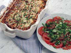 Grekisk gratäng med zucchini, fetaost och linser