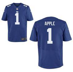 New York Giants #1 Eli Apple Nike Royal Blue Elite 2016 Draft Pick Jersey