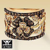 Le Vian Chocolate Diamonds® Wide Band Flower Ring