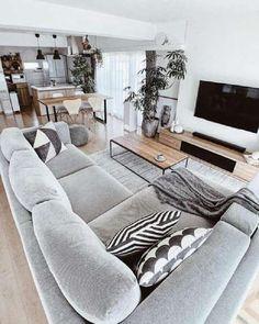 Living Room Decor Cozy, Home Living Room, Interior Design Living Room, Living Room Designs, Dining Living Room Combo, Living Room Apartment, Living Roon, Small Living Rooms, Apartment Interior