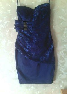 Kup mój przedmiot na #vintedpl http://www.vinted.pl/damska-odziez/krotkie-sukienki/10142833-sliczka-sukienka-ciemny-niebieski