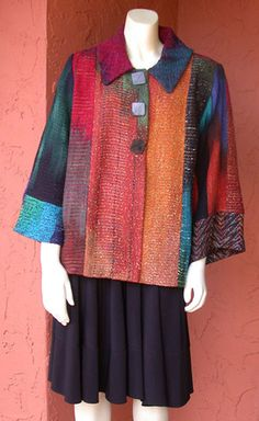 candisscole - Ikat Bay Jacket - Pieced: Ancient Ruins over Jade