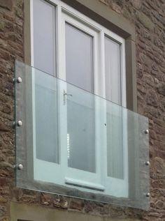 Infinity Glass Juliet Balconies from Sunrock Balconies Roof Balcony, Balcony Railing Design, House With Balcony, Balcony Window, Glass Juliet Balcony, Juliette Balcony, Glass Balcony, Glass Balustrade, Glass Railing