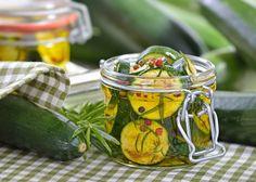 Rezept für eingelegte Zucchini (süßsauer).