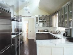 kitchen stainless cabinets