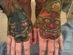 Shishi's, Ah (open mouth) and Un (closed mouth). They are for protection.