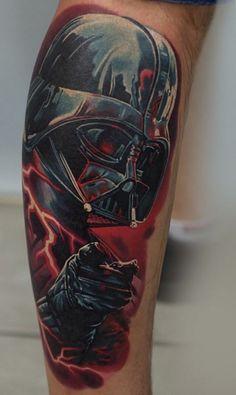 Made by Levgen Tattoo Artists in Wroclaw, Poland Region Cover Up Tattoos, Tattoo Drawings, Cool Tattoos, Awesome Tattoos, Darth Maul Tattoo, Batman Tattoo, Dbz, Woodcut Tattoo, Star Wars Tattoo