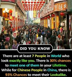Ooo, so true! I literally saw 4 people that looks like me! It is so strange ; Some Amazing Facts, True Interesting Facts, Interesting Facts About World, Intresting Facts, Unbelievable Facts, Wow Facts, Real Facts, Wtf Fun Facts, Random Facts