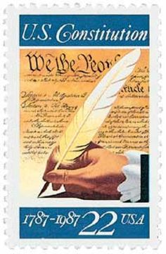 Signing of the U.S. Constitution On September 17, 1787, 39 delegates from 12 states signed the U.S. Constitution, laying the groundwork of our nation's gover