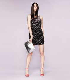 Parker beaded deco dress