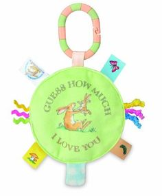 "Guess How Much I Love You: Clip-On Sound Toy by Kids Preferred by Kids Preferred. $8.09. 100% Polyester. 5.5"" of fun. Sure to delight children familiar with the well-loved tale. Excellent developmental toy. Inspired by the bestselling book Guess How Much I Love You. Perfectly sized for any baby to easily keep hold. Measuring 5.5"", this soft plush disc will keep baby active and occupied when attached to a high chair, stroller or car seat. More than a half-dozen l..."