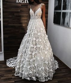 Delicate and intricately detailed wedding gown Backless Wedding, Long Wedding Dresses, Wedding Gowns, Lace Wedding, Prom Dresses, Modest Wedding, Bridesmaid Dresses, Berta Bridal, Bridal Gowns