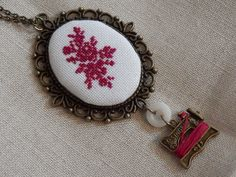 Lavender Sachets and Cross Stitched Necklace