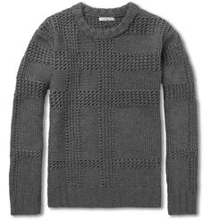Burberry BritChunky-Knit Check Merino Wool Sweater|MR PORTER