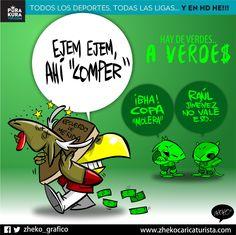 """#ElCartonDelDia para @PurakuraWeb""""AY DE VERDES... A VERDES"""" @ClubAmerica#America #CopaMx #RaulJimenez"""