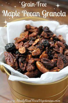 Grain-free Maple Pecan Granola @ Healy Real Food Vegetarian