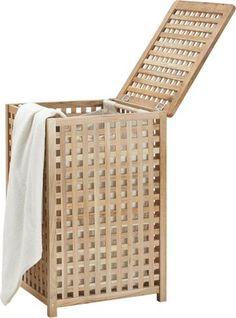 Wäschekorb aus Walnussholz - stilvoll und praktisch für Ihr Bad