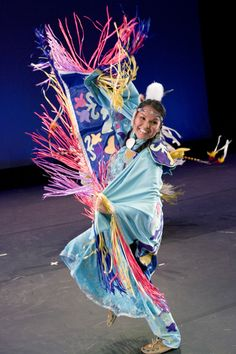 Amy Isaac performs a colorful American Indian dance for the BYU Living Legends show March 22, 2007 at BYU.