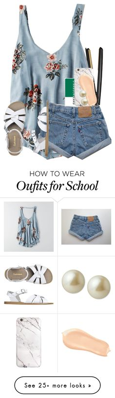 """""""middle school stinks."""" by ellaswiftie13 on Polyvore featuring GHD, American Eagle Outfitters, Toast, Too Faced Cosmetics and Carolee"""