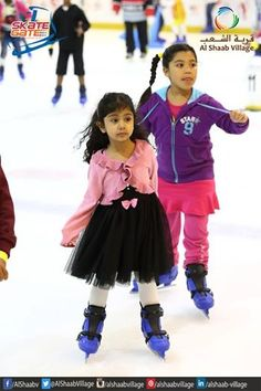 Cuteness and #Skating at its best . .. Skate at #Sharjahs only ice skating rink. #AlShaabVillage #Fun #Shopping