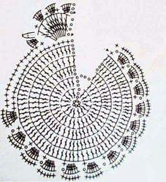 Crochet accessories 290482244700242528 - presina coccodé Source by odilecane Potholder Patterns, Crochet Potholders, Crochet Motifs, Crochet Diagram, Crochet Chart, Crochet Doilies, Crochet Flowers, Crochet Patterns, Zentangle Patterns