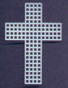 How to make plastic canvas crosses plastic canvas for Cross in my pocket craft