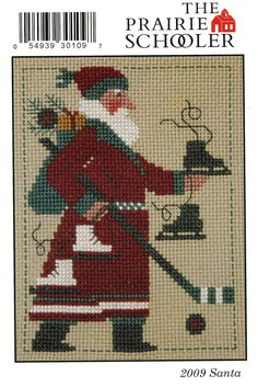 2009 schooler Santa door Prairie Schooler geteld Cross Stitch patroon/grafiek