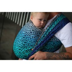Yaro Braid Aqua Grad Black Wool Ring Sling