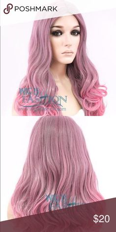 """24-Inch Pink Pastel Ombré Synthetic Hair Wig 22""""-23.5"""" circumference, 24"""" length, 150C heat resistant, made from synthetic fiber. Wigisfashion.com Accessories Hair Accessories"""