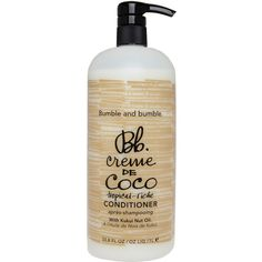 Bumble and Bumble Creme de Coco Conditioner 1L found on Polyvore