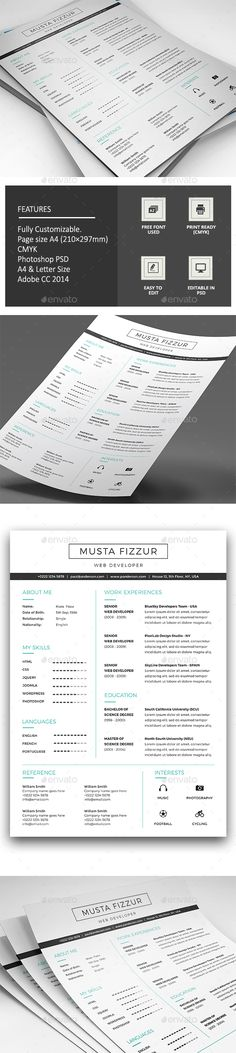 8 Pages Resume Booklet | Pinterest | Booklet template, Template and ...
