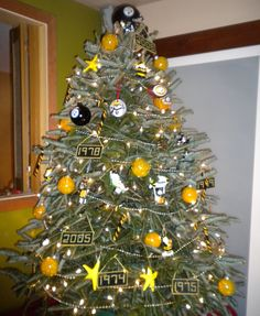 Lacy King on | Christmas tree, Penguins and Steeler nation
