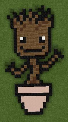 Little Groot Marvel on Minecraft