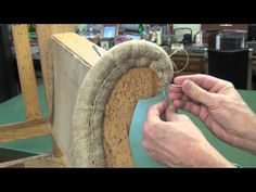 Horse Hair Upholstery Conservation & Restoration - Part 1 - YouTube
