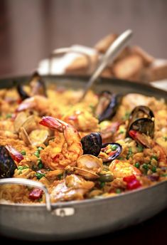 Seafood Paella pairs with a Dortmunder Export Lager.  Perfect for summer!