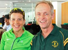 Ellie Greenwood and Bruce Fordyce